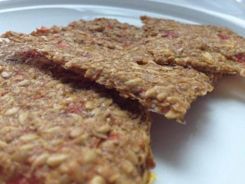 Thai flax crackers