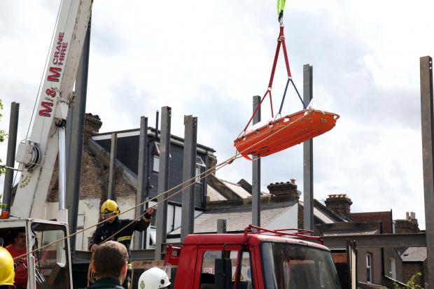 Man lifted to safety after building site fall in Haydons Road, Wimbledon
