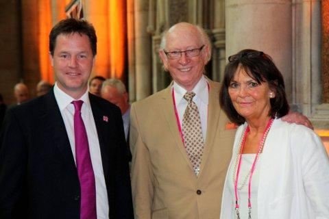 Maurice Reeves and his wife Anne with deputy prime minister Nick Clegg