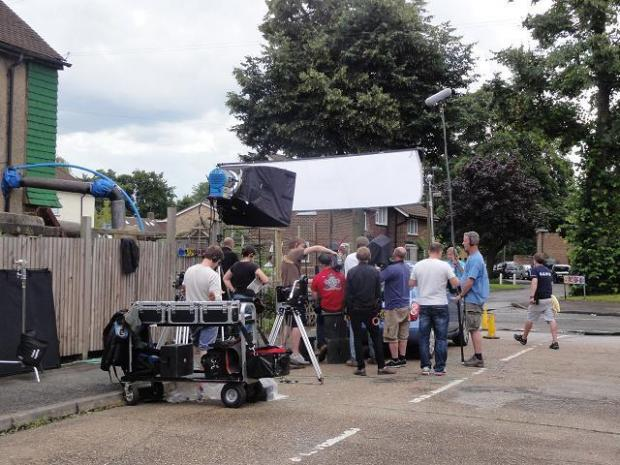 TV Sitcom Just Around The Corner being filmed in Carshalton