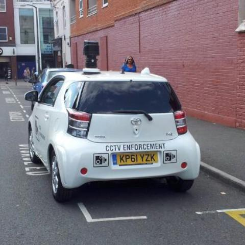 CCTV car caught on camera - in a disabled bay