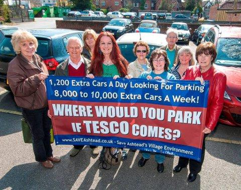 SAVE would like a smaller Tesco with on-site parking in Ashtead Village