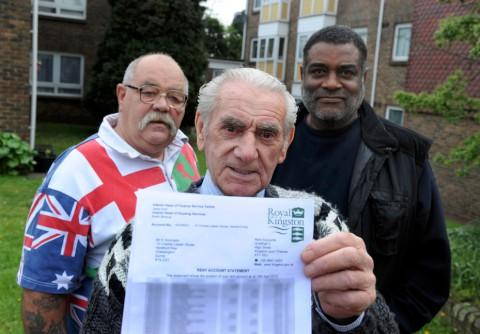 Shocked: Keith Dickinson, Len Matterface and Mohammed John Mohammed were concerned by their letters from the council