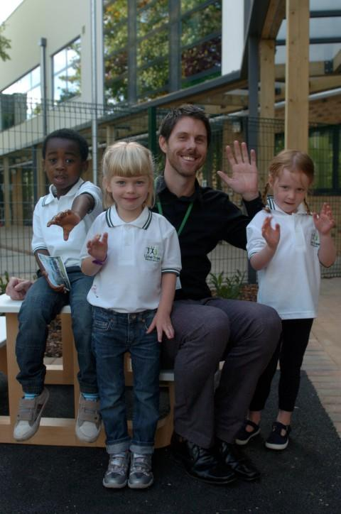 Pupils' first day at the brand new Lime Tree School in Surbiton