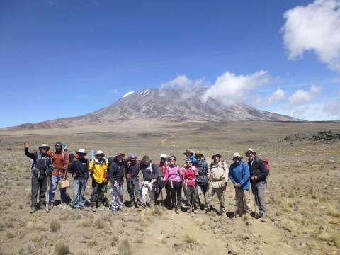 Volunteers climb Mount Kilimanjaro for St Raphael's Hospice