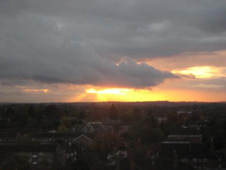 Dramatic images of the skies over south London and Surrey