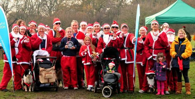 Santa's dash through Wimbledon for charity