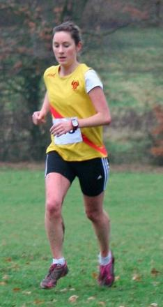 On the run: Amy Aronson led the Hercules Wimbledon team home in the Surrey Ladies League meeting