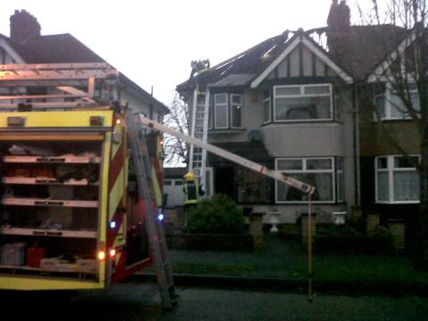 Family home devastated in fire