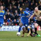 Going away: Toby Ajala's time with AFC Wimbledon is fast approaching its end as the loanee is due back at Bristol City    SP73094