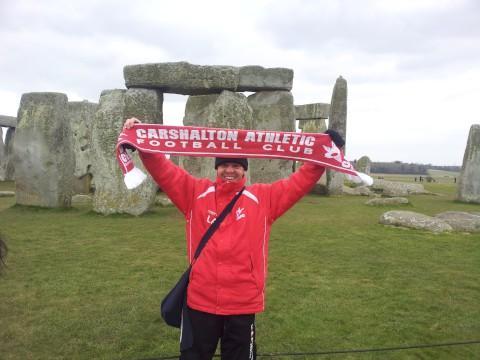 Carshalton Athletic FC coach Lee Atkinson walks 80 miles in