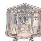 The replica of the Holloway prison badge has been loaned to Bourne Hall by Australian MP Frances Bedford
