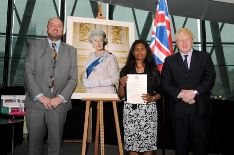 Kalyani Johnson Lionarajah was among new citizens welcomed at City Hall