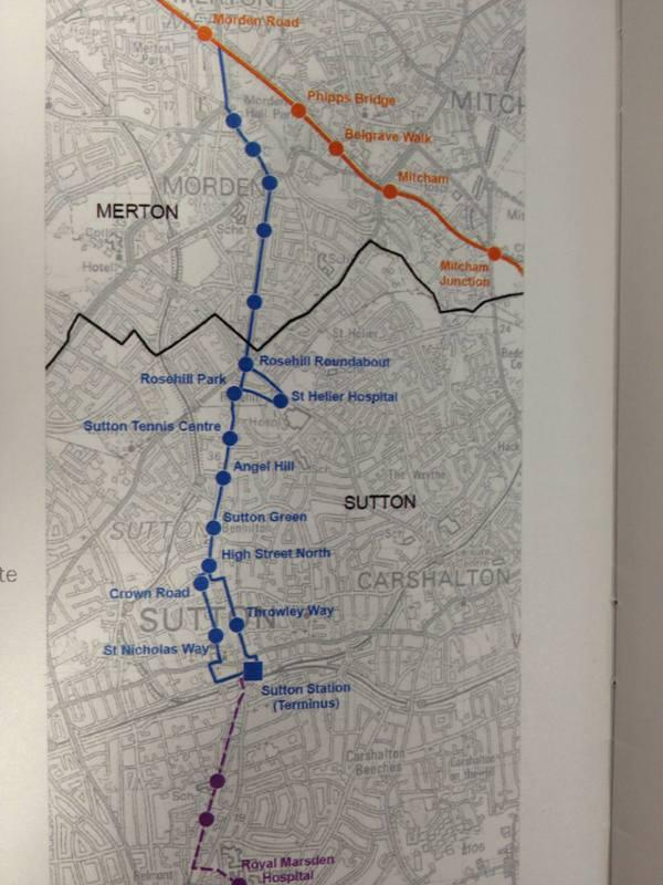 Your Local Guardian: The proposed route was put forward by Sutton Council at a public meeting on Thursday.