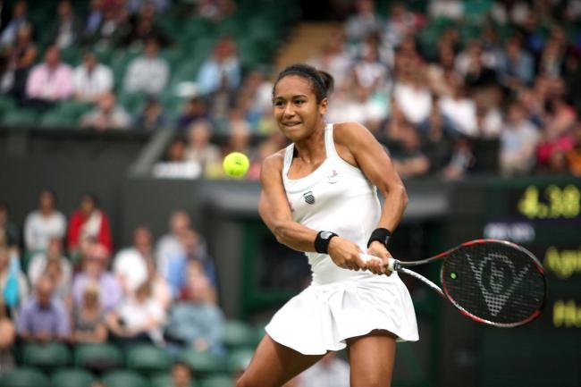 Another one bites the dust: Heather Watson became the fifth British woman to lose in the first round of this year's Wimbledon Championship