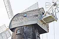 Needing restoration: Popular landmark the Shirley Windmill, which celebrates its 150th anniversary this year, needs repair work to the outside.