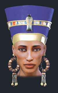 Curse: Did Queen Nefertiti sport a Croydon facelift'? Pic: Discovery Channel