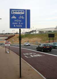 The bus lane on the Coulsdon bypass that no buses use