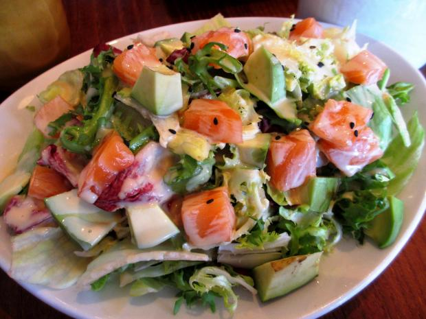 Your Local Guardian: Salmon and avocado salad