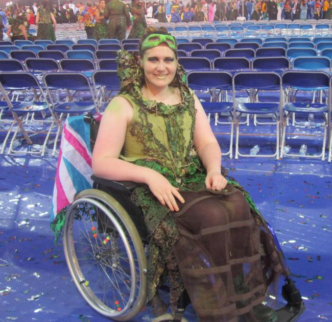 Becki McGuinness at the Paralympic opening ceremony last year