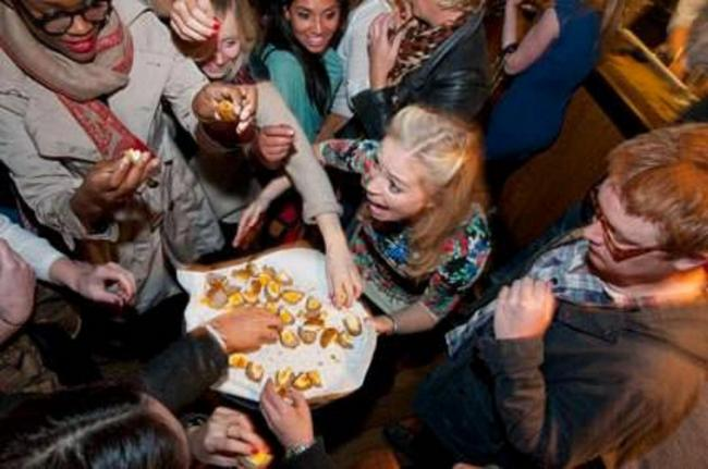 Punters go mad for scotch eggs at the scotch egg challenge