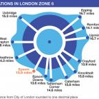 Your Local Guardian: Epsom is not included in London travel Zone 6 even though stations further away from the capital are