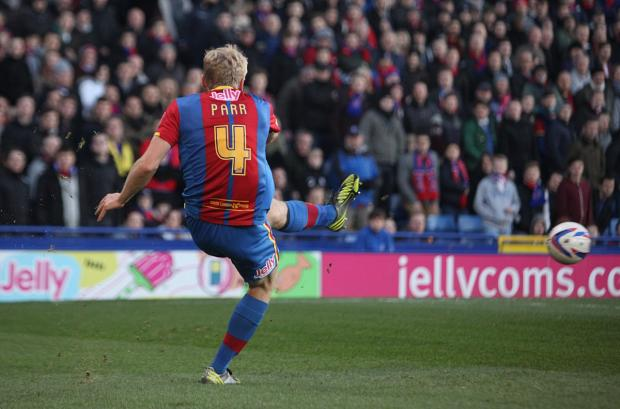 Back: Jonathan Parr returned to the Palace matchday squad for the first time in five months on Saturday