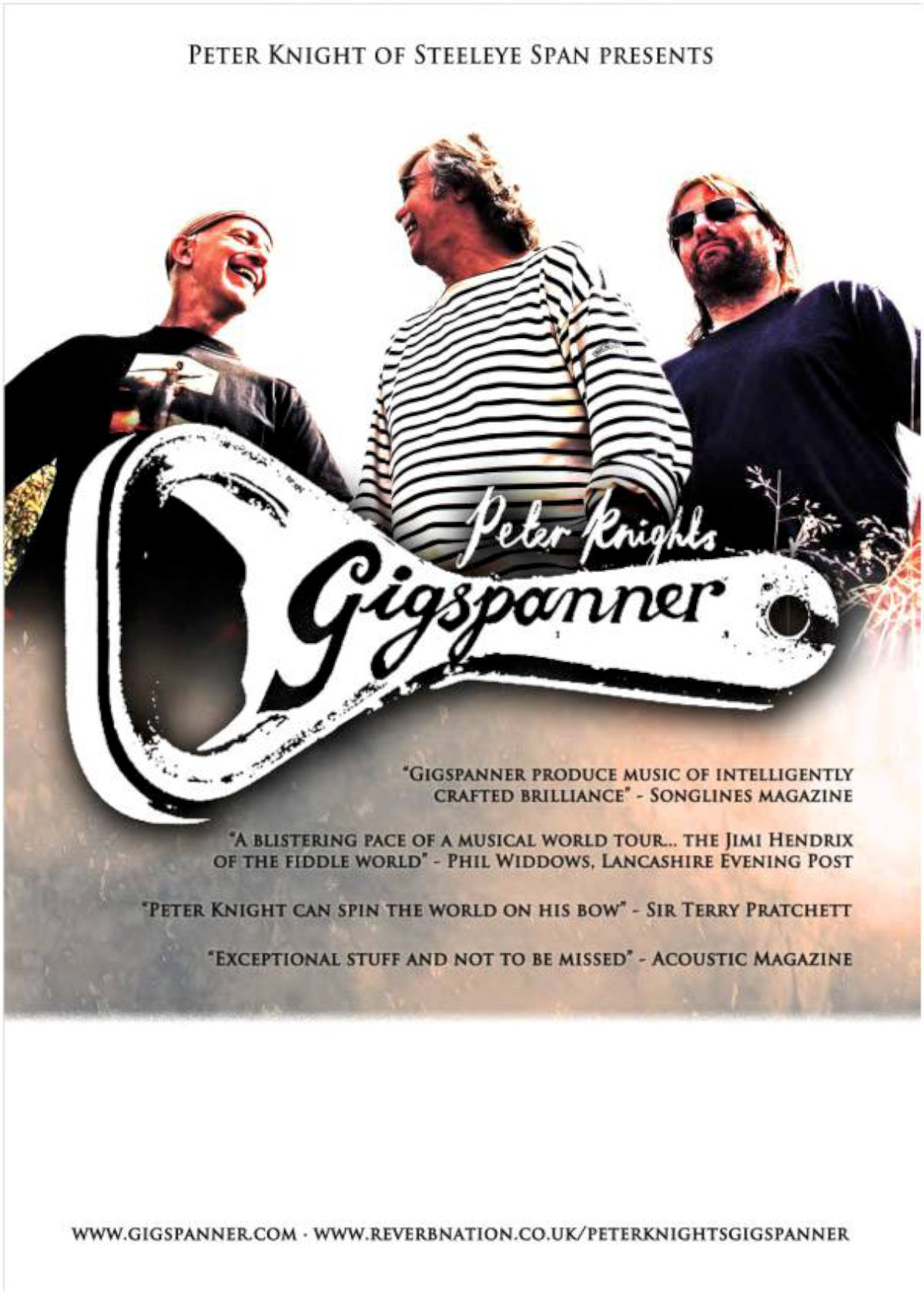 Party time: Peter Knight's Gigspanner