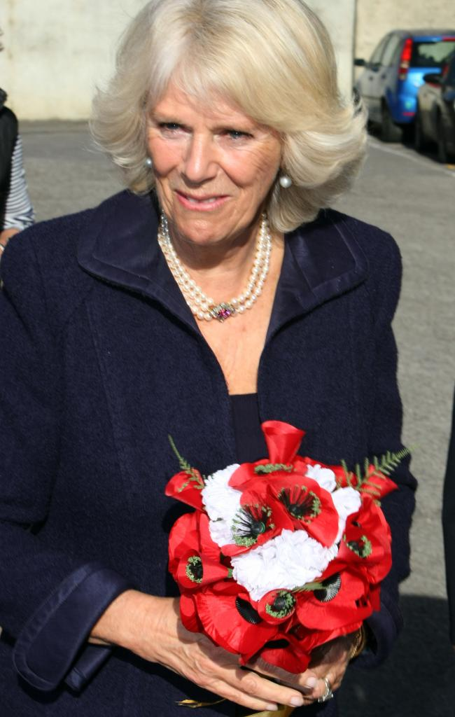 HRH The Duchess of Cornwall visited the Poppy Factory in Richmond today