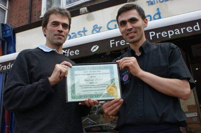 Carshalton cafe voted independent business of the year