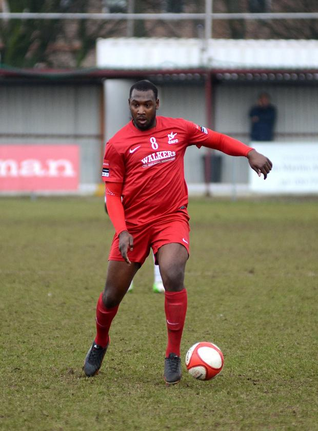Your Local Guardian: Hakeem Adelakun playing for Carshalton Athletic