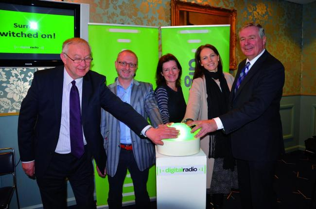 Mole Valley MP Sir Paul Beresford officially marks the switch on at the launch at Epsom Downs Racecourse