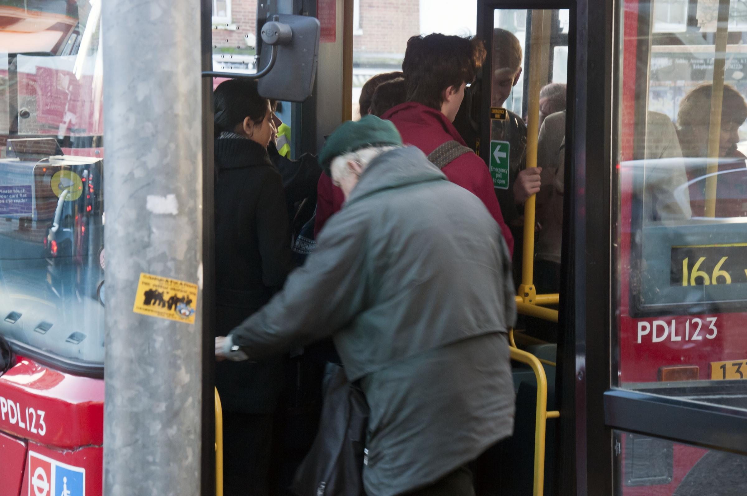 Passengers have complained about overcrowding on the 166 bus