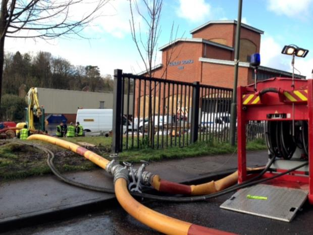 Your Local Guardian: Firefighters are at the Kenley water treatment works in Godstone Road