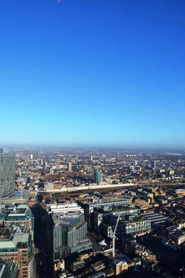 The view from the Duck and Waffle - and what a view!