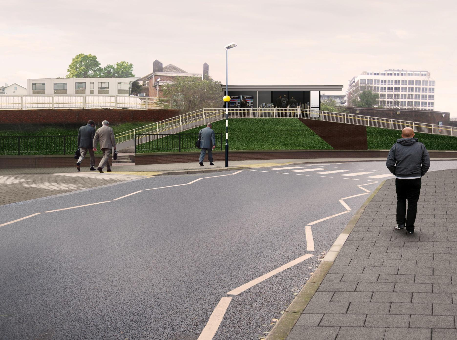 How the side entrance to the station will look in the summer