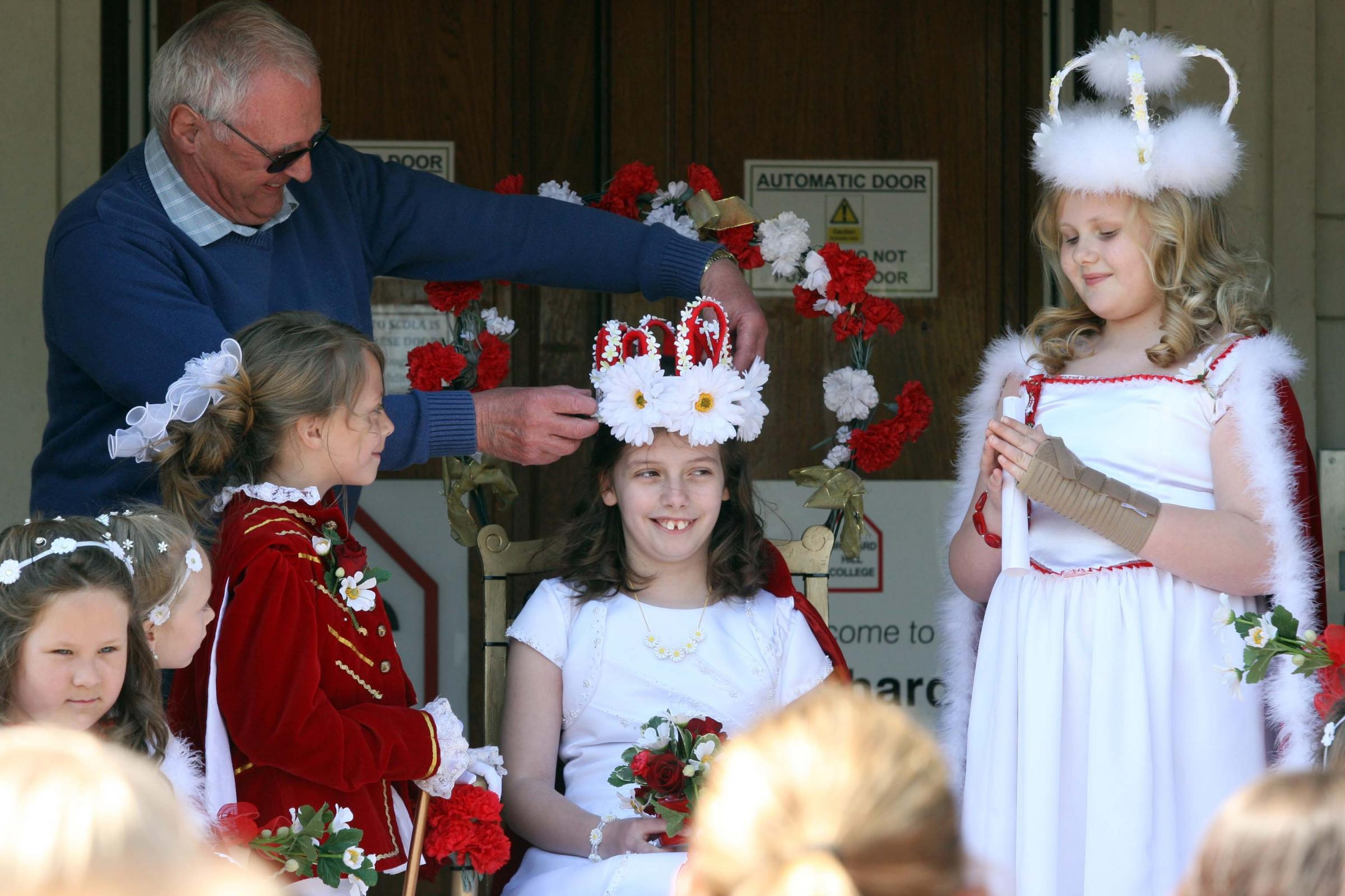 Traditional Ceremony: 9-year-old Annabel Jones is crowned May Queen