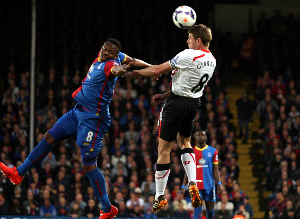 Your Local Guardian: Steven Gerrard beats Kagisho Dikgacoi to a header