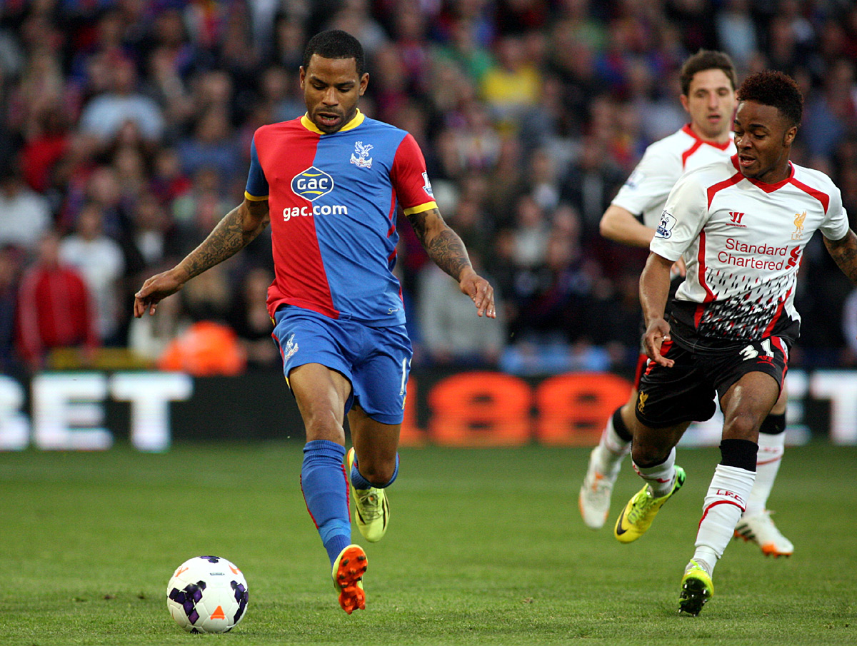 Your Local Guardian: Jason Puncheon tries to get away from Raheem Sterling