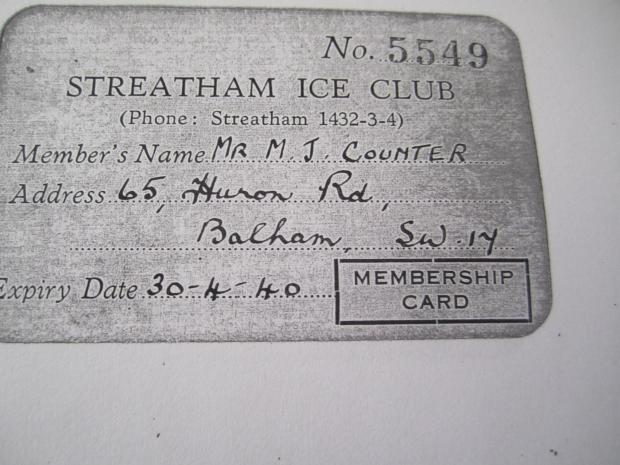 Your Local Guardian: Michael Counter was a member of Streatham Ice Club
