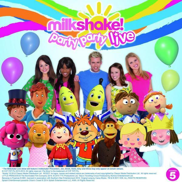 Milkshake kids TV fans get chance to see characters and presenters on stage