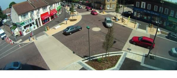 The new junction in Hackbridge (pic: Steven Silverwood)