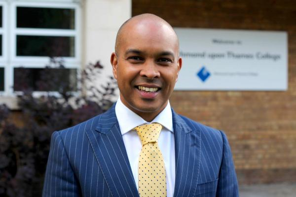 Top man: Robin Ghurbhurun, principal of Richmond upon Thames College