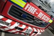Tree fire: Crews were called to Sugden Road at 6.30am