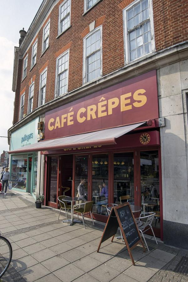 Cafe Crepes, in Epsom High Street, has come under attack for the