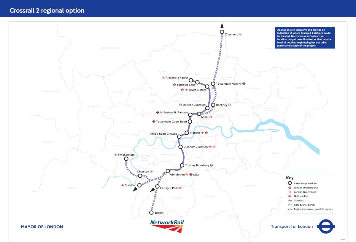 Option: Crossrail 2 could be coming