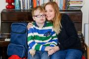 William Milne with his mother Sarah, awaiting a double re-transplant operation