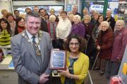 Mayor Arthur Hookway with award-winning pharmacist Reena Barai