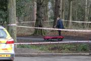 Police were called at 7.40am after a body was spotted near a car park