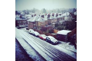 Sprinkling of snow falls in south west London and north Surrey